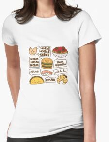 Talking Food Womens Fitted T-Shirt