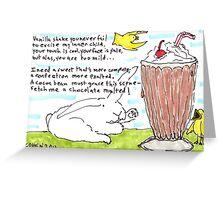 Of Milkshakes Greeting Card