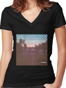 South Side Slugs Women's Fitted V-Neck T-Shirt