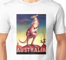 1956 Australia Kangaroo Travel Poster Unisex T-Shirt