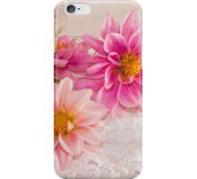 Three Pink Dahlias iPhone Case/Skin