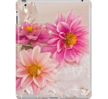 Three Pink Dahlias iPad Case/Skin