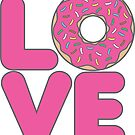 Strawberry Donut Love by DetourShirts