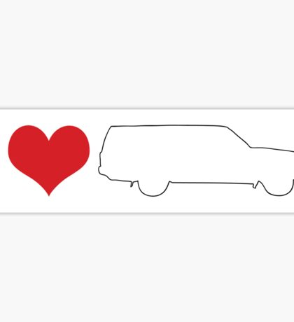 I love 240 wagon Bumper sticker Sticker