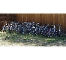 Two Wheel Rides Grave Yard Photographic Print