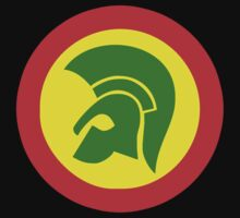 TROJAN RECORDS TWO COLOR Kids Tee