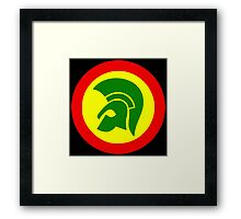 TROJAN RECORDS TWO COLOR Framed Print