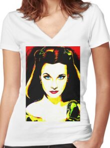 Pop Vivien Women's Fitted V-Neck T-Shirt