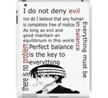 Death the Kid Quote iPad Case/Skin