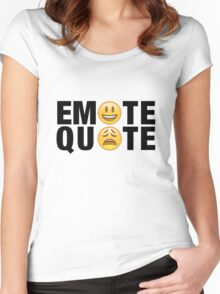 Emote Quote Black Women's Fitted Scoop T-Shirt