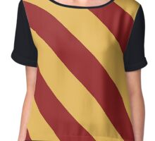 Tallahassee Florida Red & Gold Team Color Stripes Chiffon Top