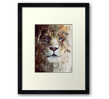 Lion // Majesty Framed Print