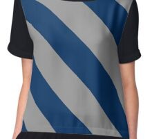 Washington D.C. Grey & Blue Team Color Stripes Chiffon Top