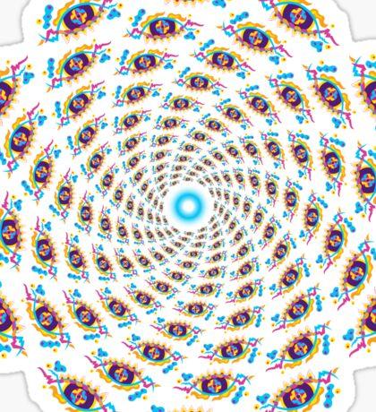 Psychedelic eyes mandala 15 Sticker