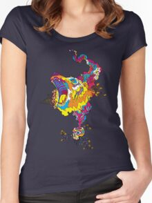 Psychedelic acid bear roar Women's Fitted Scoop T-Shirt