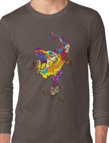 Psychedelic acid bear roar Long Sleeve T-Shirt
