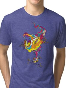 Psychedelic acid bear roar Tri-blend T-Shirt