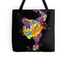 Psychedelic acid bear roar Tote Bag