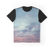 Pink Purple and Blue Summer Sunset Graphic T-Shirt