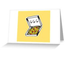 666 Pizza Greeting Card
