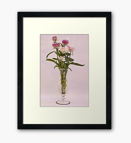 Straw Flowers - Digital Water Color Framed Print