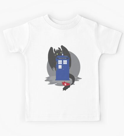 Toothless TARDIS Kids Tee