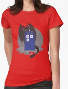 Toothless TARDIS Womens Fitted T-Shirt