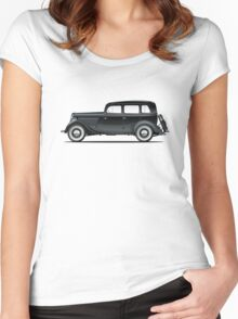 Retro car Women's Fitted Scoop T-Shirt
