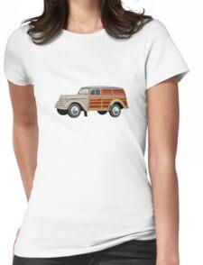 Retro woody van Womens Fitted T-Shirt