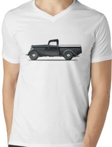 Retro pickup Mens V-Neck T-Shirt