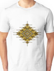 Yellow Native American-Style Sunburst Unisex T-Shirt