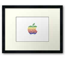 Six Colors Stained Glass Apple Framed Print