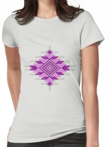 Pink Native American-Style Sunburst Womens Fitted T-Shirt