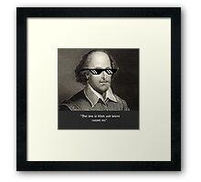 Love is blind Framed Print