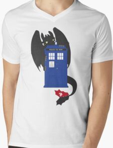 Train Your Doctor Mens V-Neck T-Shirt