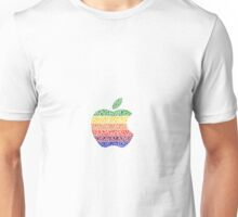 Six Colors Stained Glass Apple Unisex T-Shirt