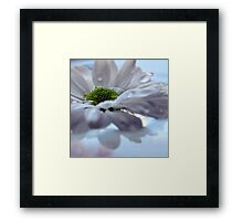 FLOWER IN WATER Framed Print