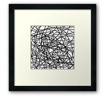 Scribbles Framed Print