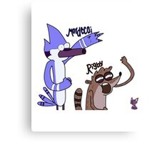 draw mordecai and rigby Canvas Print
