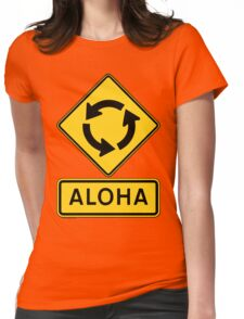 Aloha Circle Sign Design Womens Fitted T-Shirt