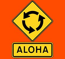 Aloha Circle Sign Design Unisex T-Shirt