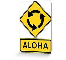Aloha Circle Sign Design Greeting Card