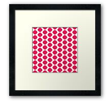 Eames Era Retro 60s Waves Pattern  (Pure Magenta Red) Framed Print