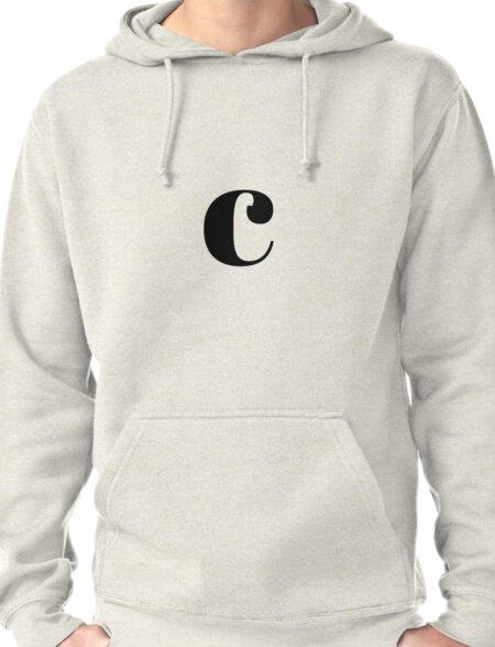 """C"" initial Pullover Hoodie"