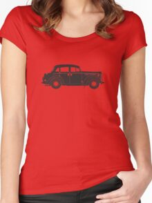 Retro car silhouette Women's Fitted Scoop T-Shirt