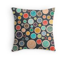 Happy Shiny Droplets Throw Pillow