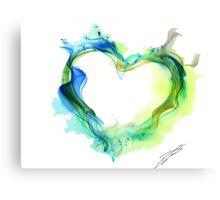 Ink Heart Canvas Print