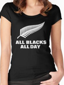All Blacks... All Day Women's Fitted Scoop T-Shirt