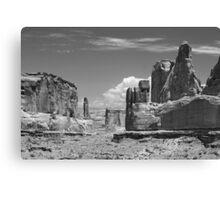 Park Avenue Arches National Park 4 BW Canvas Print