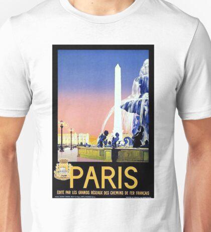 Vintage Paris Travel Poster Unisex T-Shirt